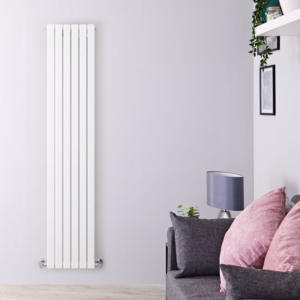 Design Heizkörper Vertikal Einlagig Weiß 1780mm x 354mm 897W - Sloane