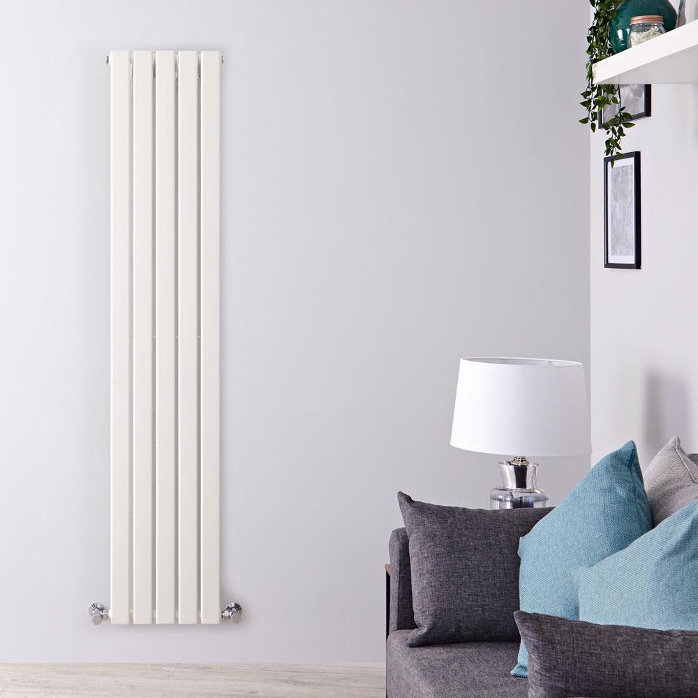 Design Heizkörper Vertikal Einlagig Weiß 1780mm x 350mm 823W - Delta