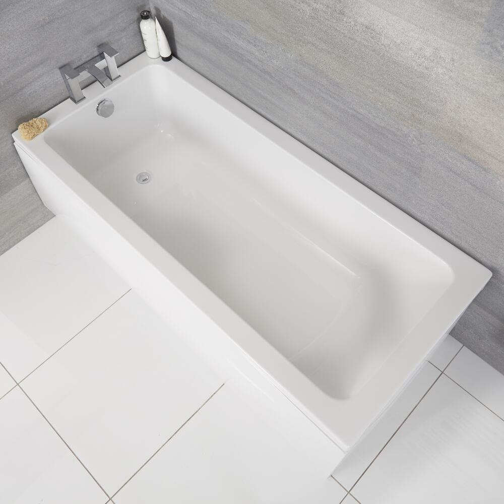 Einbau-Badewanne Rechteckbadewanne 1800mm x 800mm - ohne Panel