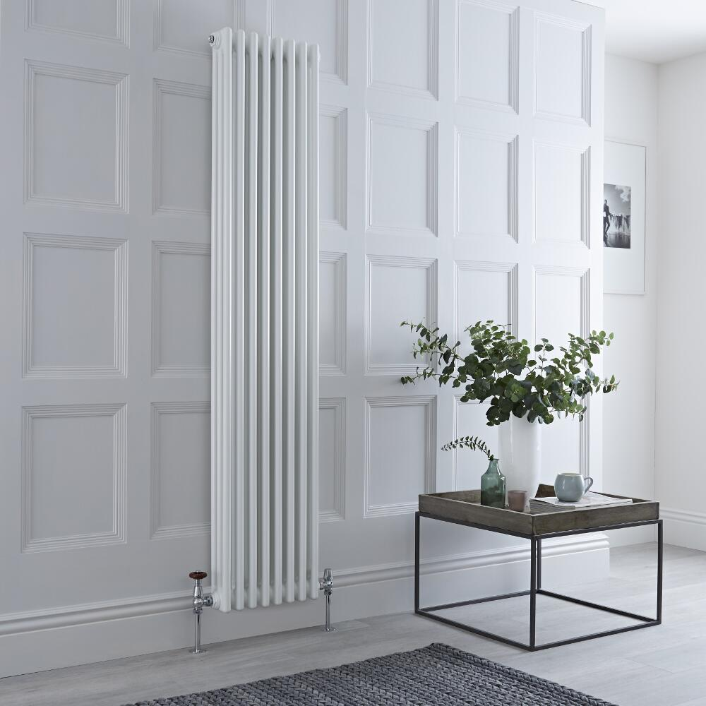 Gliederheizkörper Vertikal 3 Säulen Nostalgie Weiß 1800mm x 380mm 1558W - Regent