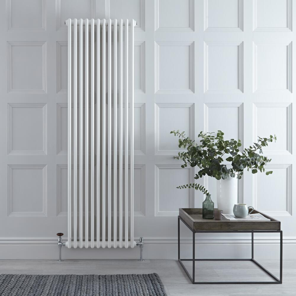 Gliederheizkörper Vertikal 2 Säulen Nostalgie Weiß 1800mm x 560mm 1867W - Regent