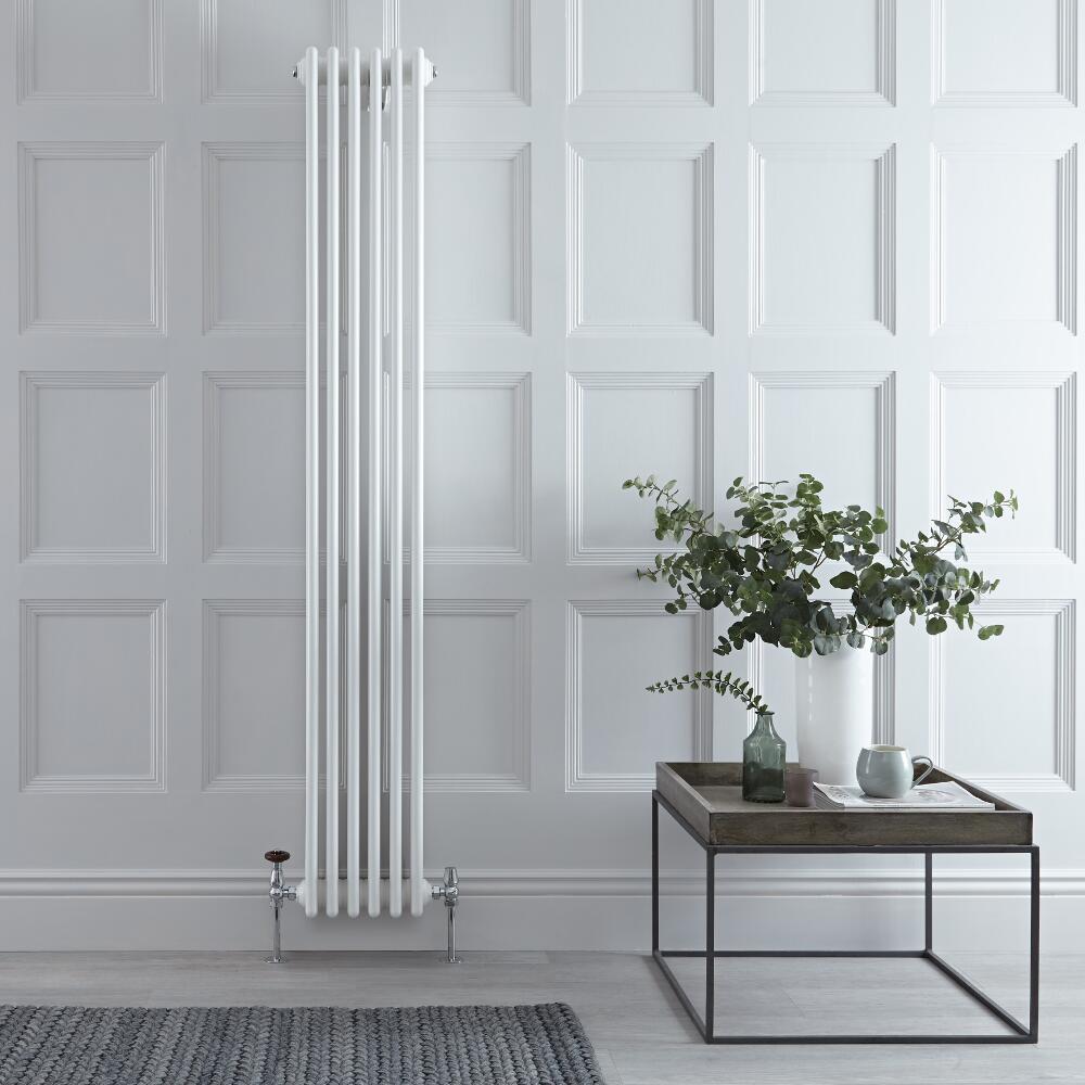 Gliederheizkörper Vertikal 4 Säulen Nostalgie Weiß 1800mm x 290mm 1615W - Regent