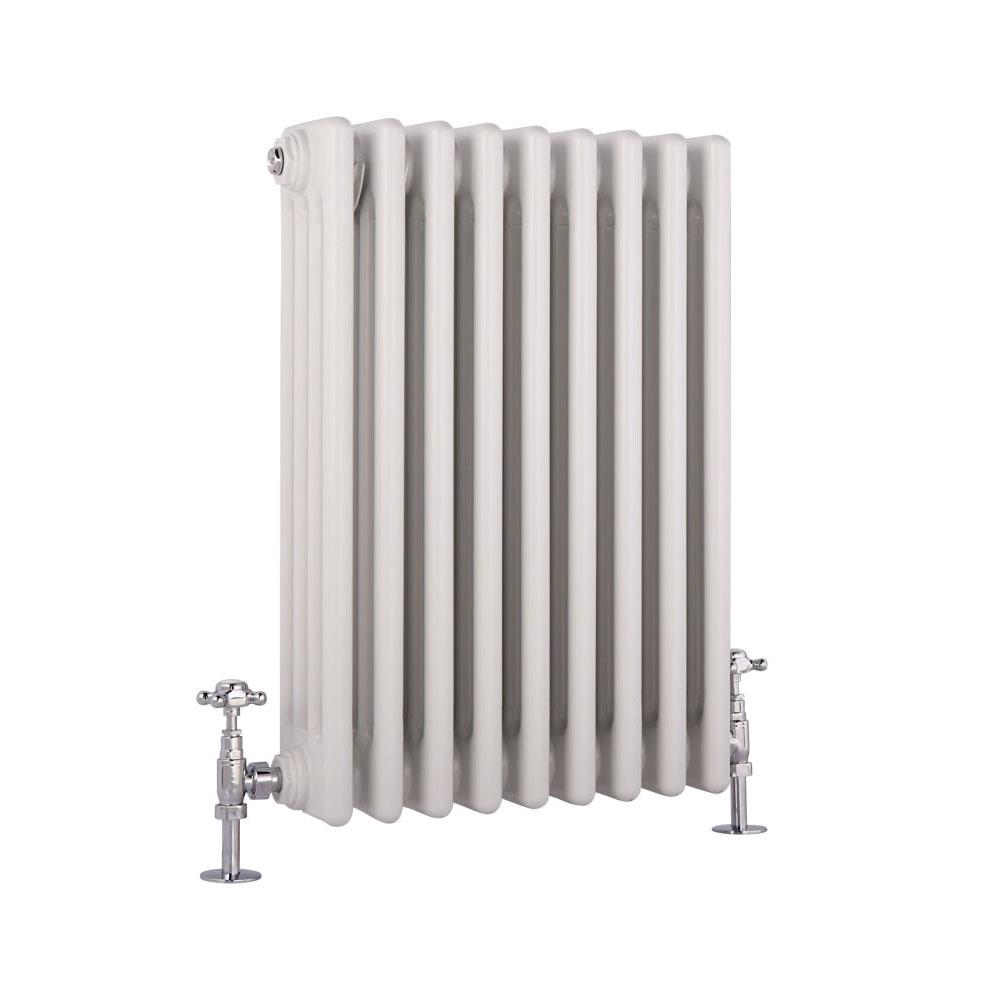 4-Säulen Gliederheizkörper Horizontal Weiß 600mm x 405mm 854W - Regent
