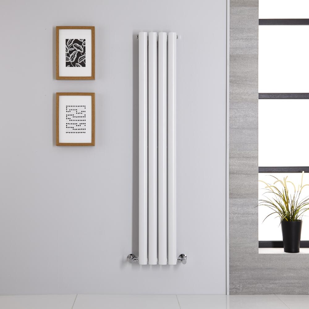 Design Heizkörper Vertikal Einlagig Weiß 1400mm x 236mm 457W - Revive