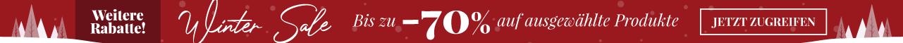 Winter Sale Bis zu -70% auf ausgewählte Produkte Jetzt zugreifen