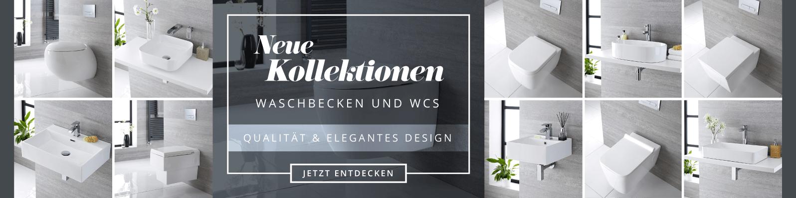 Neue Kollektion: Waschbecken und WCs Jetzt entdecken