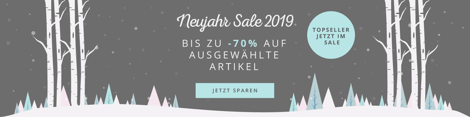 Neujahr Sale 2019 Bis zu -70% auf ausgewählte Artikel Jetzt sparen - Jetzt noch mehr Produkte!