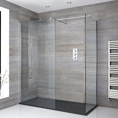 Walk In Dusche mit Duschtasse