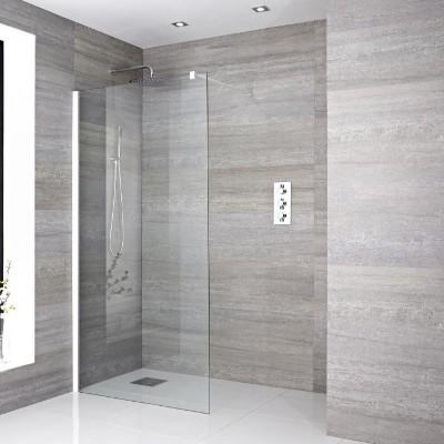 Ebenerdige Dusche mit Rinne